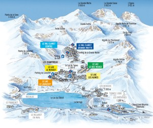 Plan Tignes Village